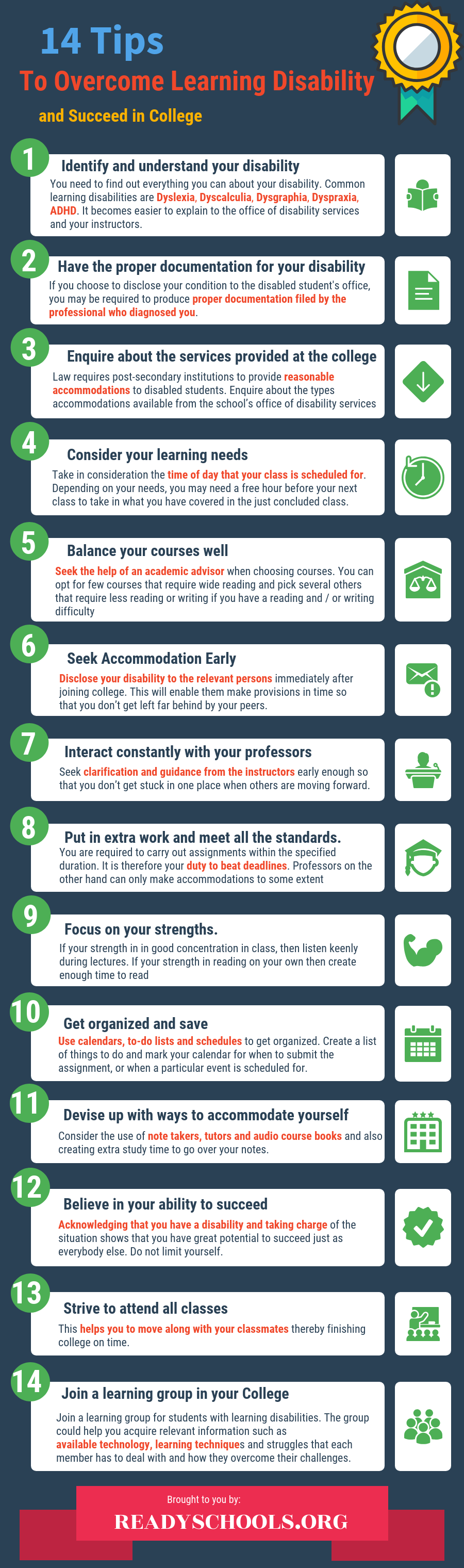 tips to overcome learning disability